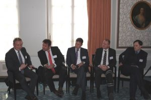 The panel of experts (left to right): Jörg Kienitz, Christian Fries, Roland Stamm, Paul Büchel, Dirk Schubert